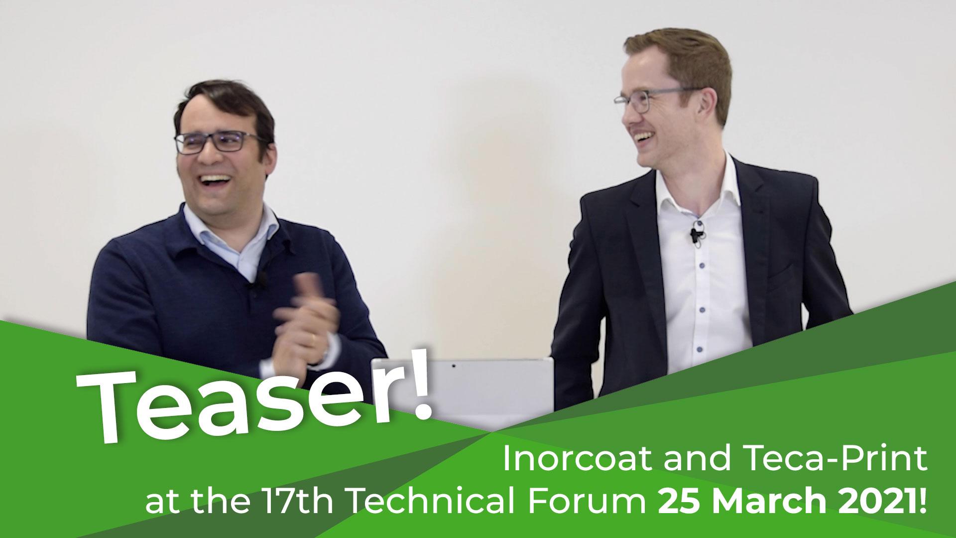 Next week, 25 March 2021 at 17th TechnicalForum at the WorldMoneyFair 2021!