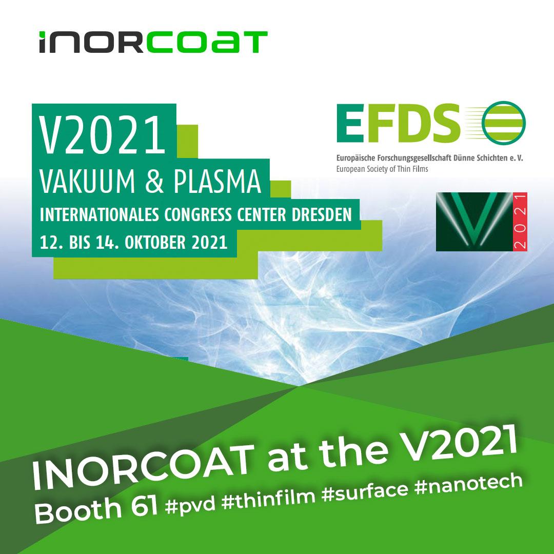 INORCOAT nimmt an der V2021 in Dresden teil!